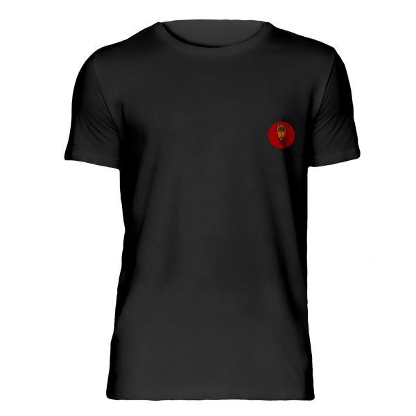 T-Shirt schwarz Kreis