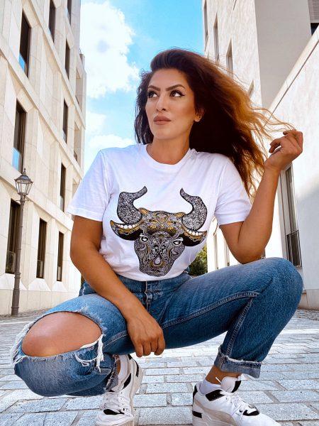 T-Shirt weiß Taurus