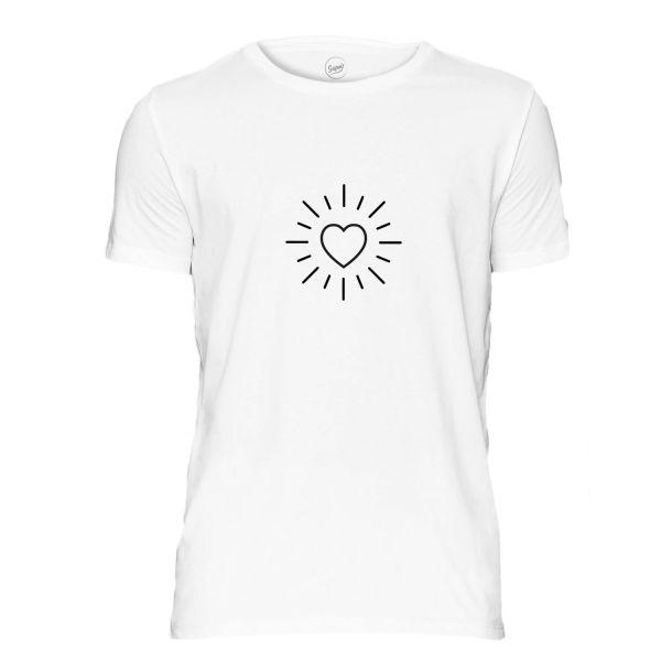 Heart Sun T- Shirt weiß