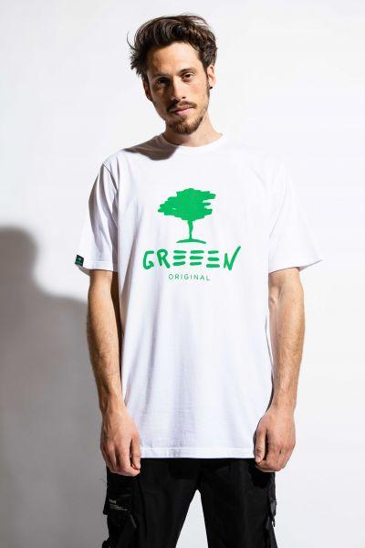 GREEEN green tree T-Shirt weiß Bambus