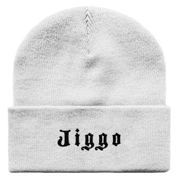 Weiße Beanie Jiggo
