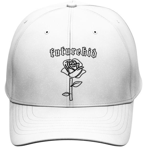 Weiße Polo Cap Futurekid Rose