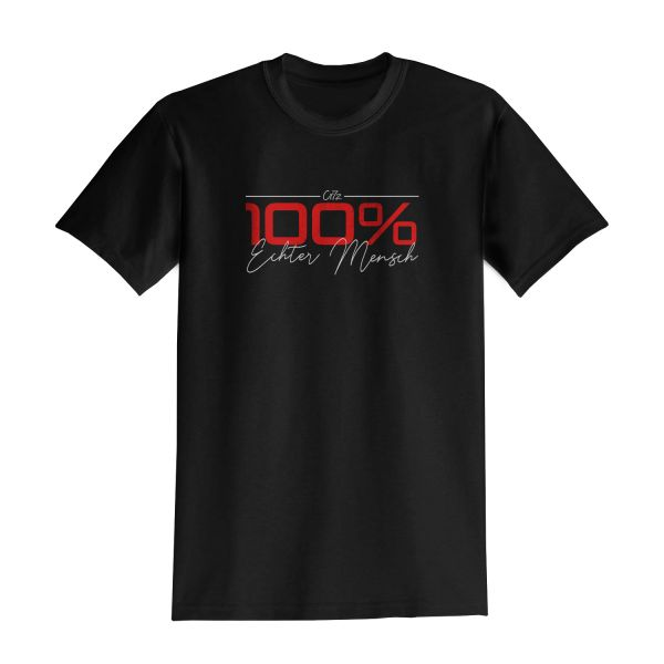 Cr7z - 100% Echter Mensch T-Shirt (Schwarz)