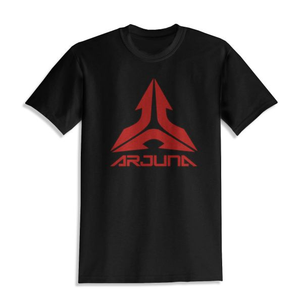 ARJ-0015 Arjuna T-Shirt in schwarz mit rotem Logo