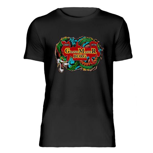 T-Shirt schwarz Drache