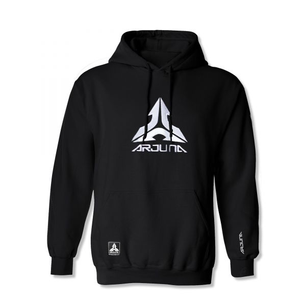 Arjuna - Logo Hoodie (Schwarz/Weiß)
