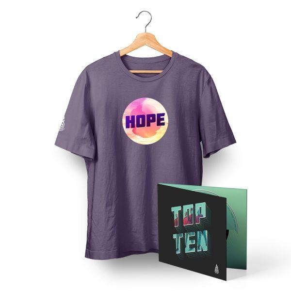 TopTen Digi Pack + HOPE T-Shirt plum Bundle