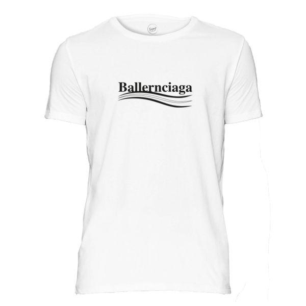 Ballernciaga T- Shirt weiß