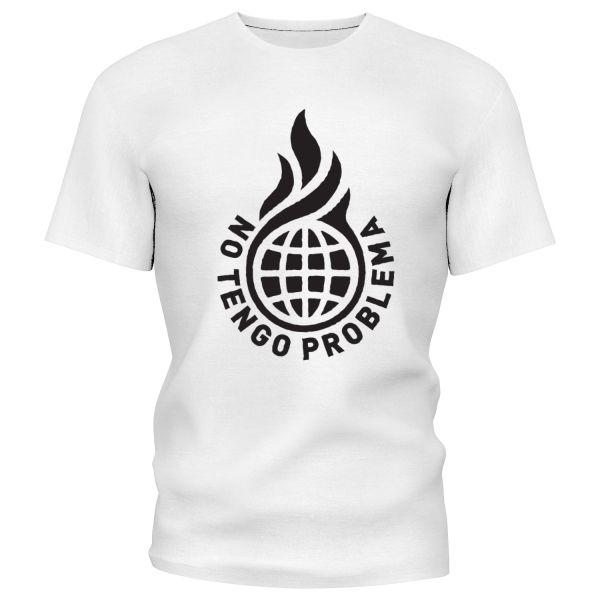 NO TENGO PROBLEMA T-Shirt weiß/schwarz