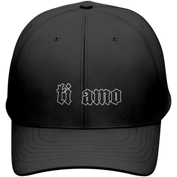 Schwarze Polo Cap Ti Amo